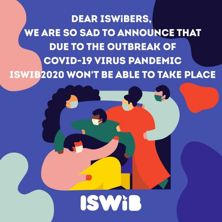 ISWiB 2020 important notice